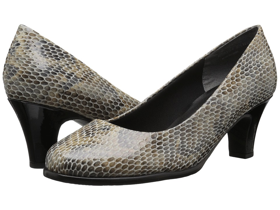 Rose Petals Cabby (Taupe Viper Snake) High Heels