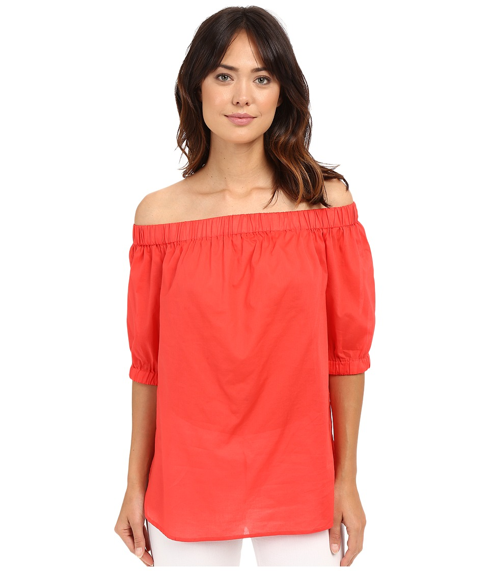 MICHAEL Michael Kors - Off Shoulder Short Sleeve Top (Coral Reef) Women's Clothing