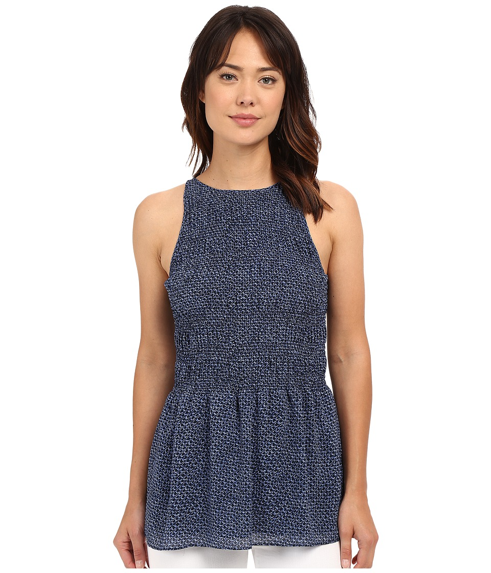 MICHAEL Michael Kors - Arashi Smock Halter Top (New Navy) Women's Clothing
