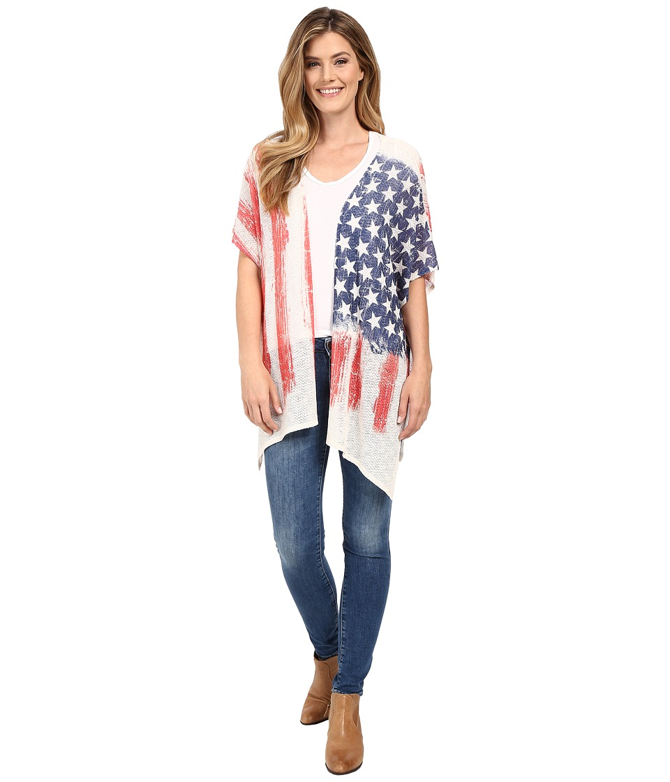 Scully - Patriotic Cool Evenings Sweater (Red/White/Blue) Women's Sweater