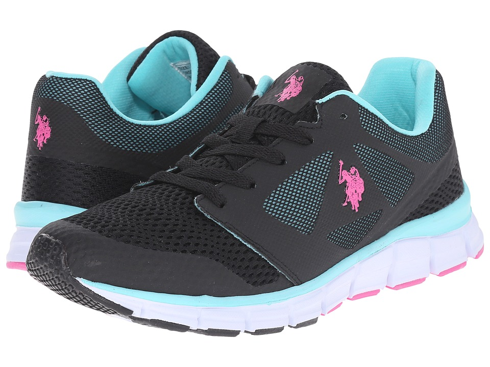 U.S. POLO ASSN. - Cathy (Black/Fuchsia/Aqua) Women's Shoes