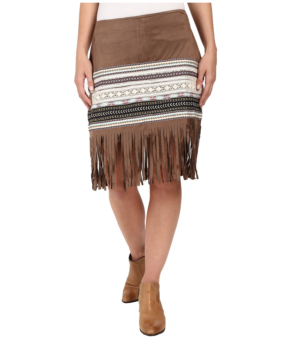 Scully - Maude Fringe Skirt (Brown) Women's Skirt