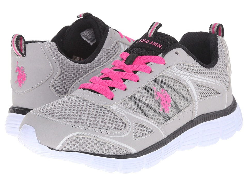 U.S. POLO ASSN. - Amelia (Grey/Black/Fuchsia) Women's Shoes