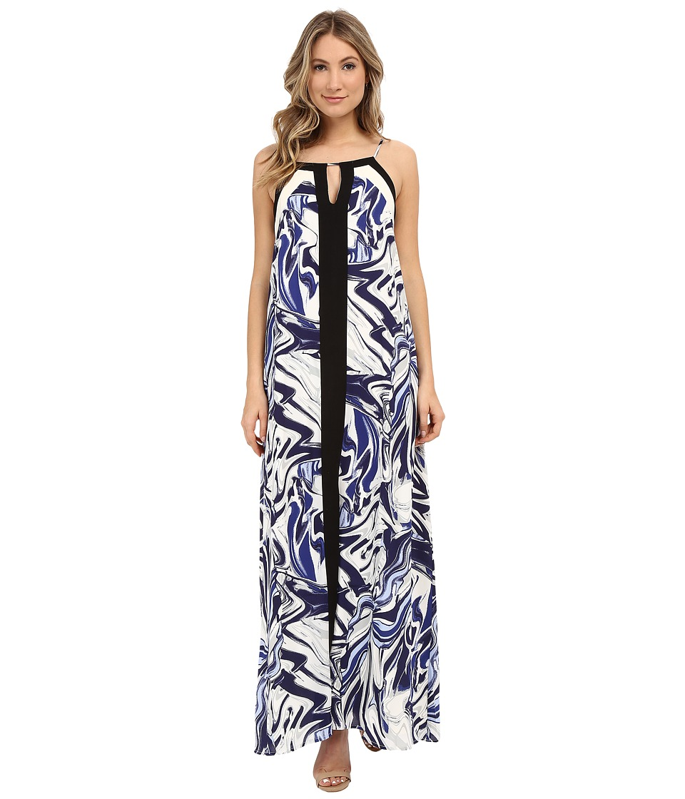 Adelyn Rae - Spaghetti Strap Maxi Dress (Blue Multi) Women's Dress