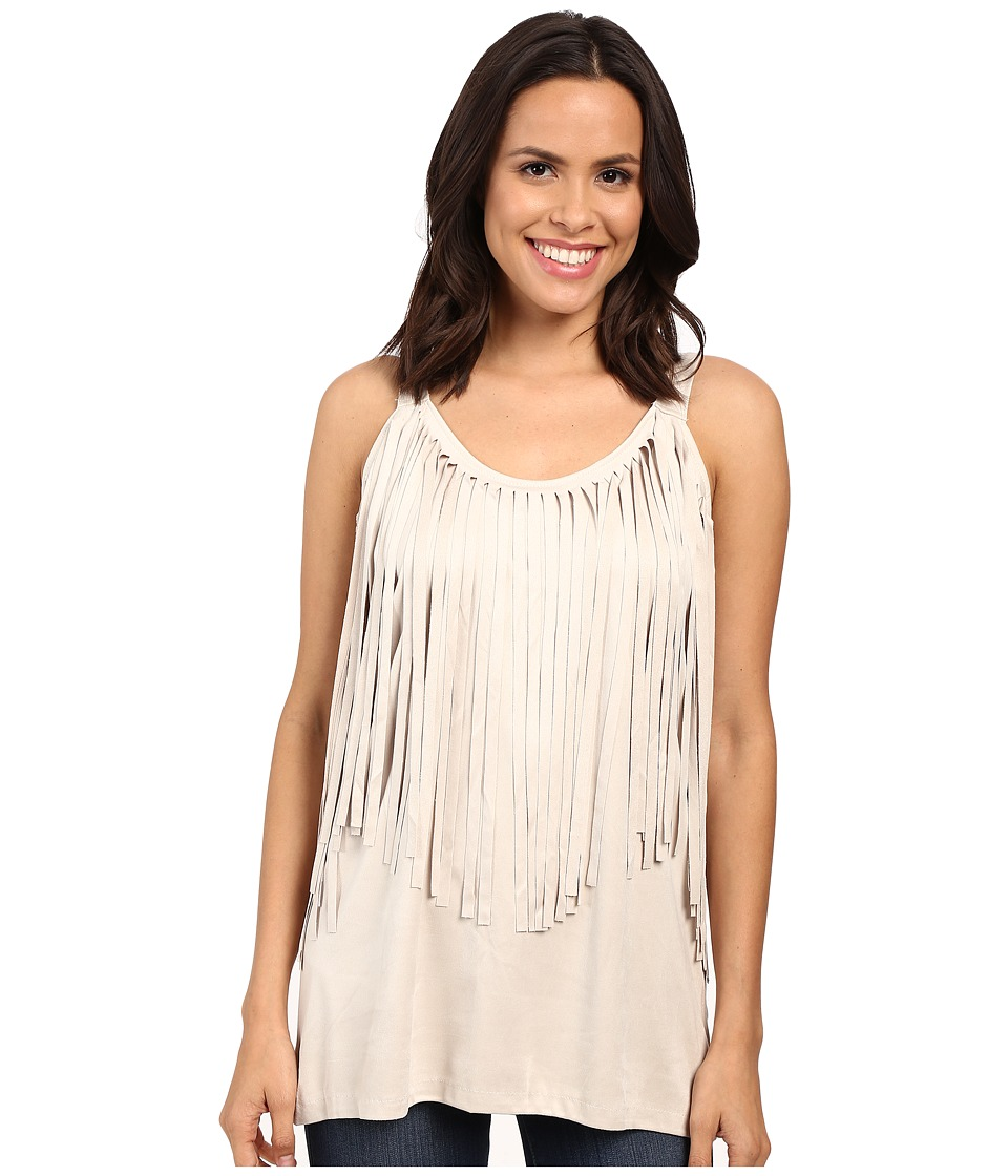 Scully - Marissa Fringe Tank Top (Ivory) Women's Sleeveless