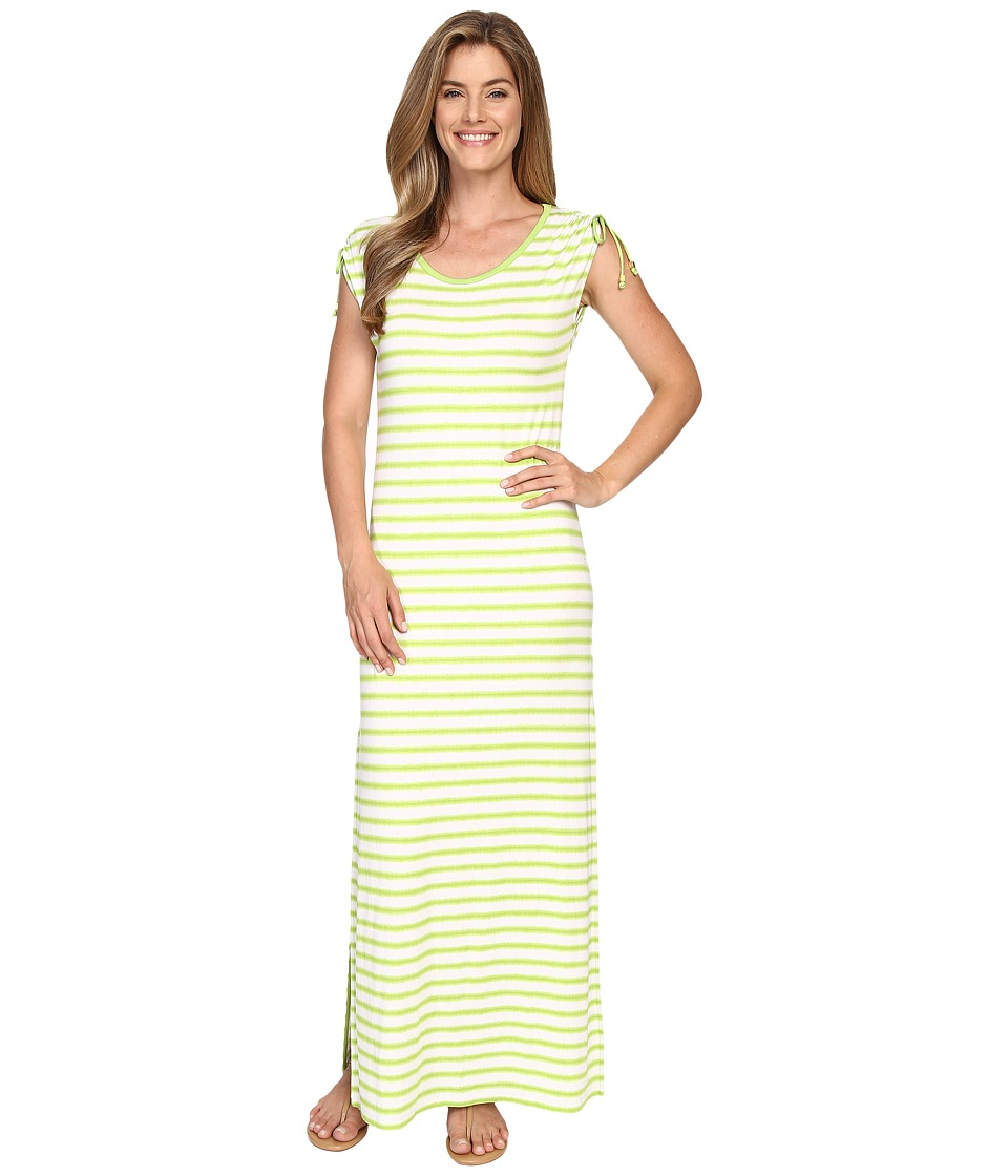 MICHAEL Michael Kors Pindo Stretch Ruched Maxi (Fresh Lime) Women