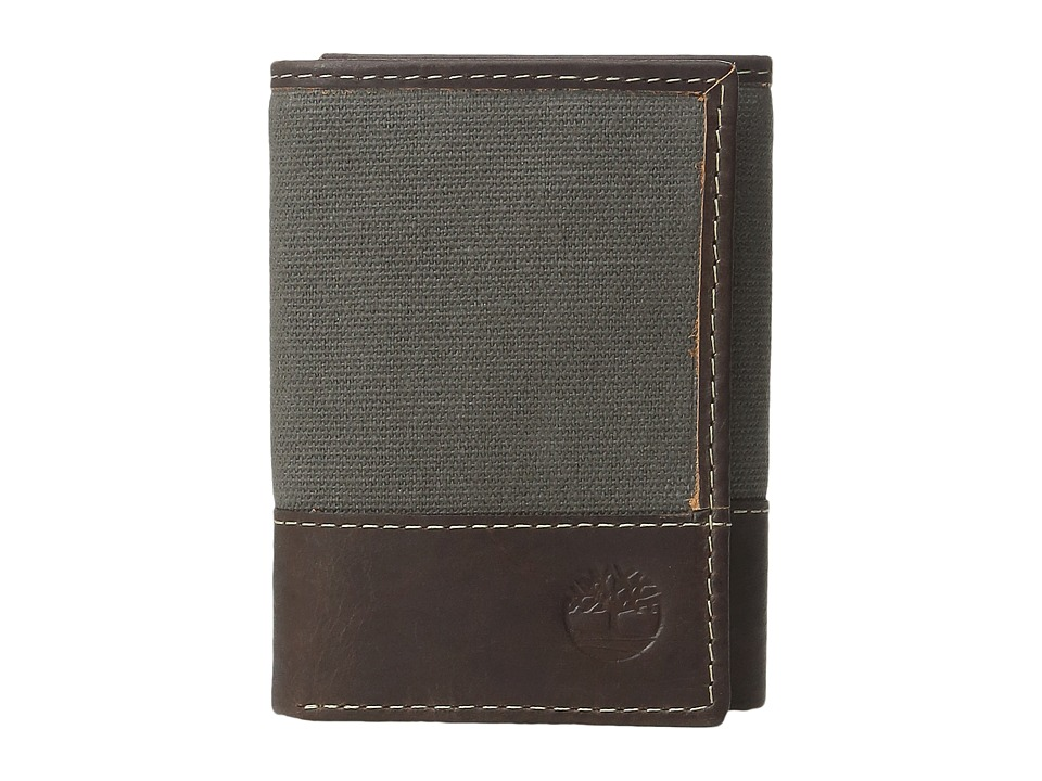 Timberland - Baseline Canvas Trifold (Charcoal) Wallet Handbags