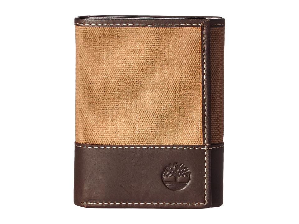Timberland - Baseline Canvas Trifold (Khaki) Wallet Handbags
