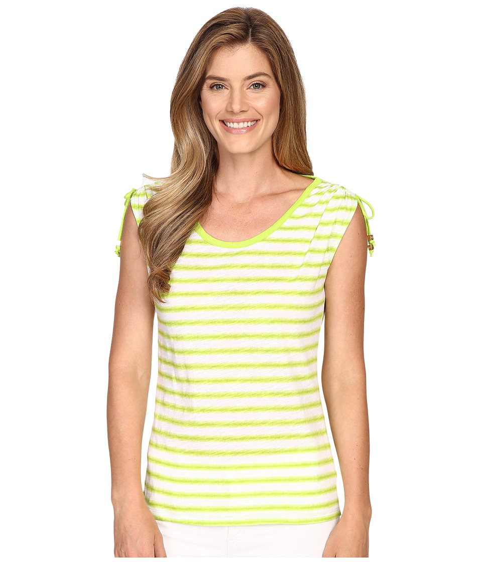 MICHAEL Michael Kors - Pindo Stretch Ruched Top (Fresh Lime) Women's Clothing
