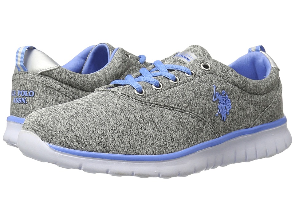 U.S. POLO ASSN. - Maxine9 (Grey Heather Jersey/Periwinkle) Women's Shoes