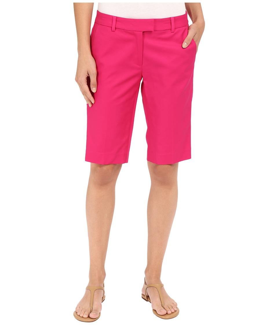 MICHAEL Michael Kors - Slim Bermuda (Geranium) Women's Shorts plus size,  plus size fashion plus size appare