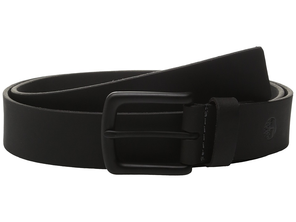 Timberland - 38mm Pull Up Belt (Black) Men's Belts