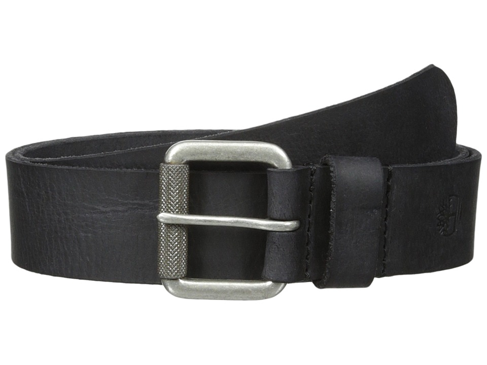 Timberland - 40mm Milled Pull Up Belt (Black) Men's Belts