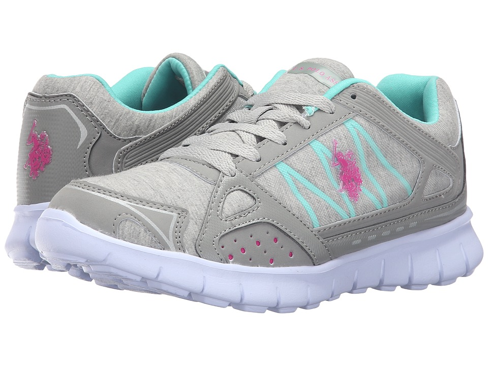 U.S. POLO ASSN. - Joanne (Light Grey Jersey/Fuchsia/Mint) Women's Shoes