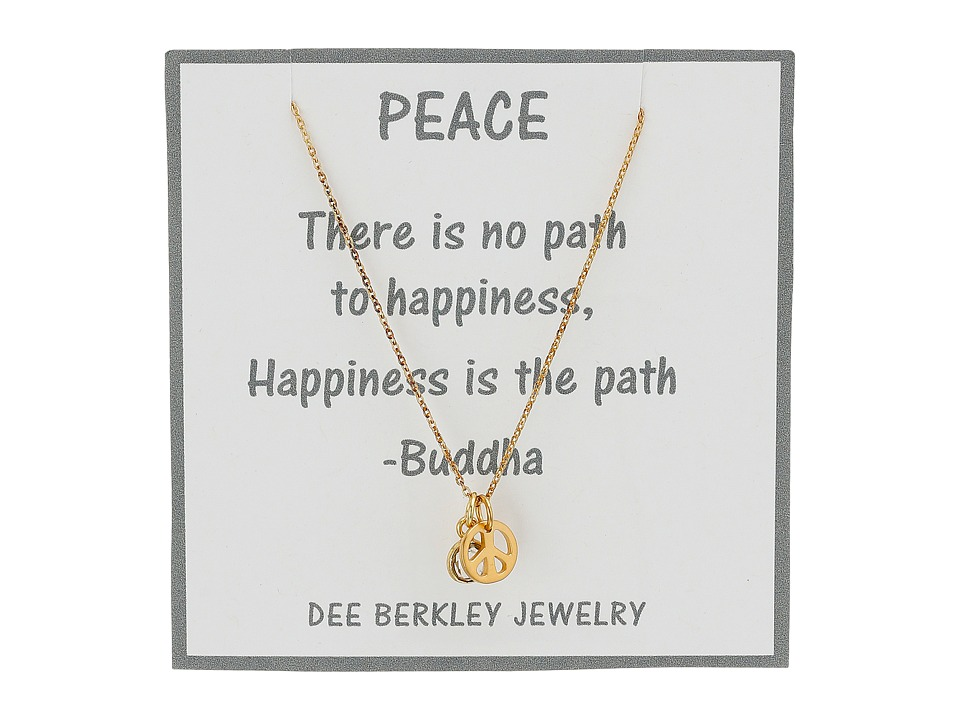 Dee Berkley - Peaceful Thoughts Necklace (Gold) Necklace