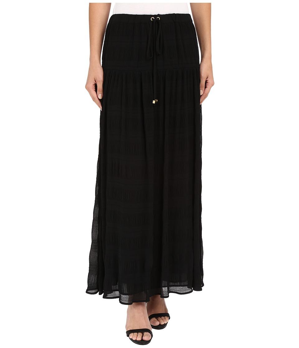 MICHAEL Michael Kors - Pleated Maxi Skirt (Black) Women's Skirt plus size,  plus size fashion plus size appare