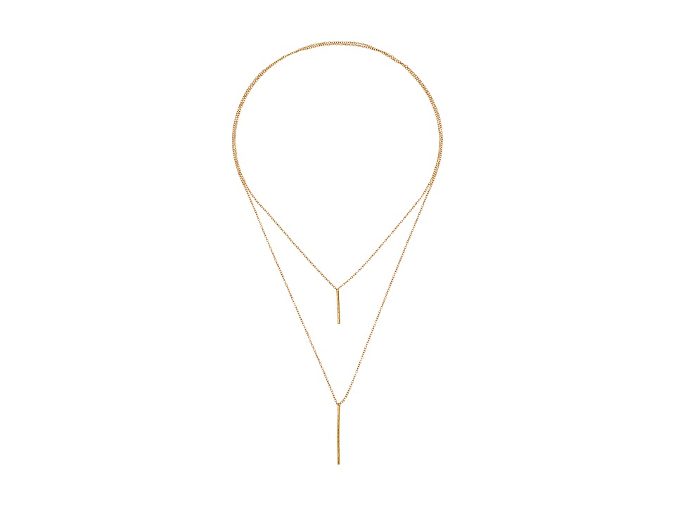 gorjana - Kiernan Double Pendant Necklace (Gold) Necklace