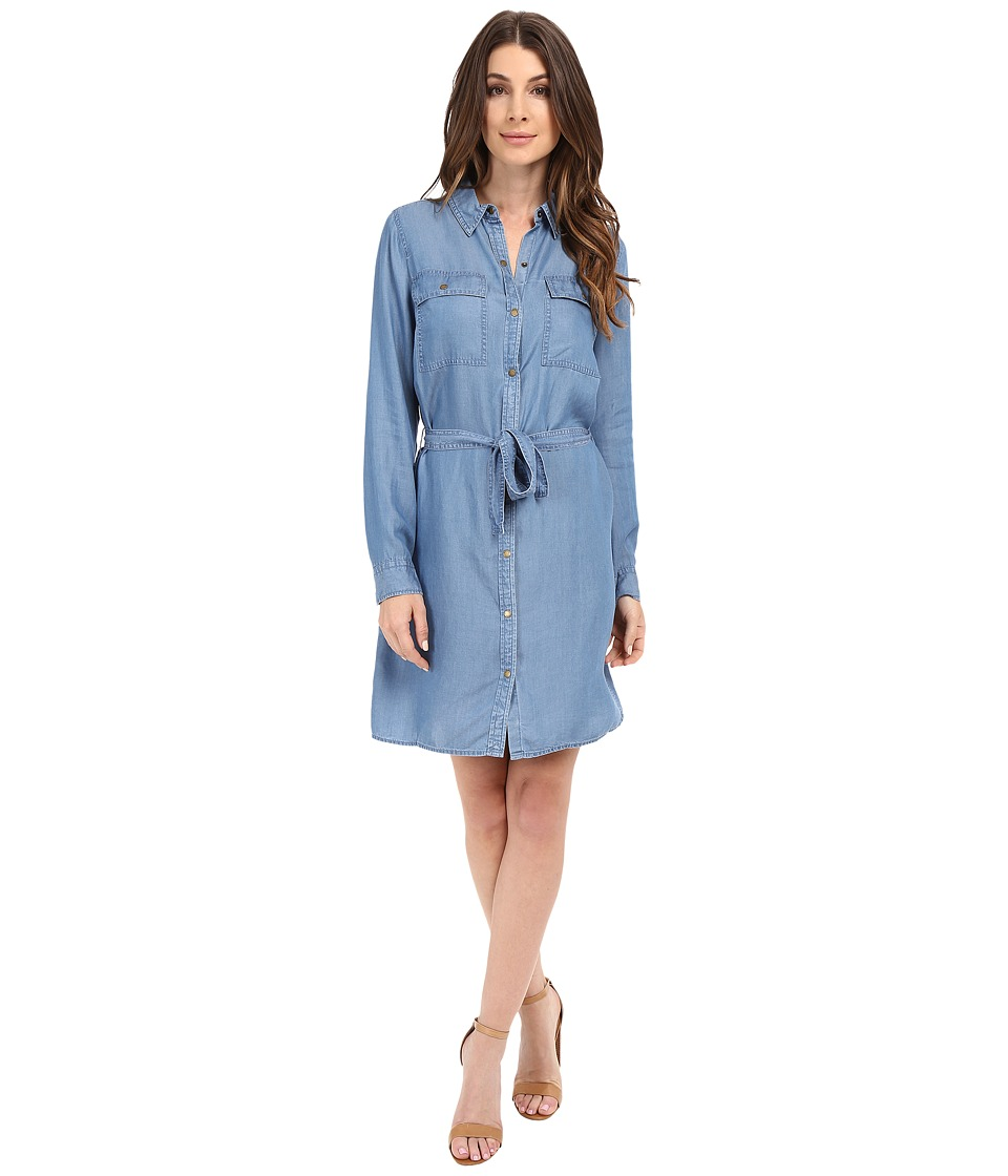 MICHAEL Michael Kors - Denim Shirtdress (Light Cadet Wash) Women's Dress