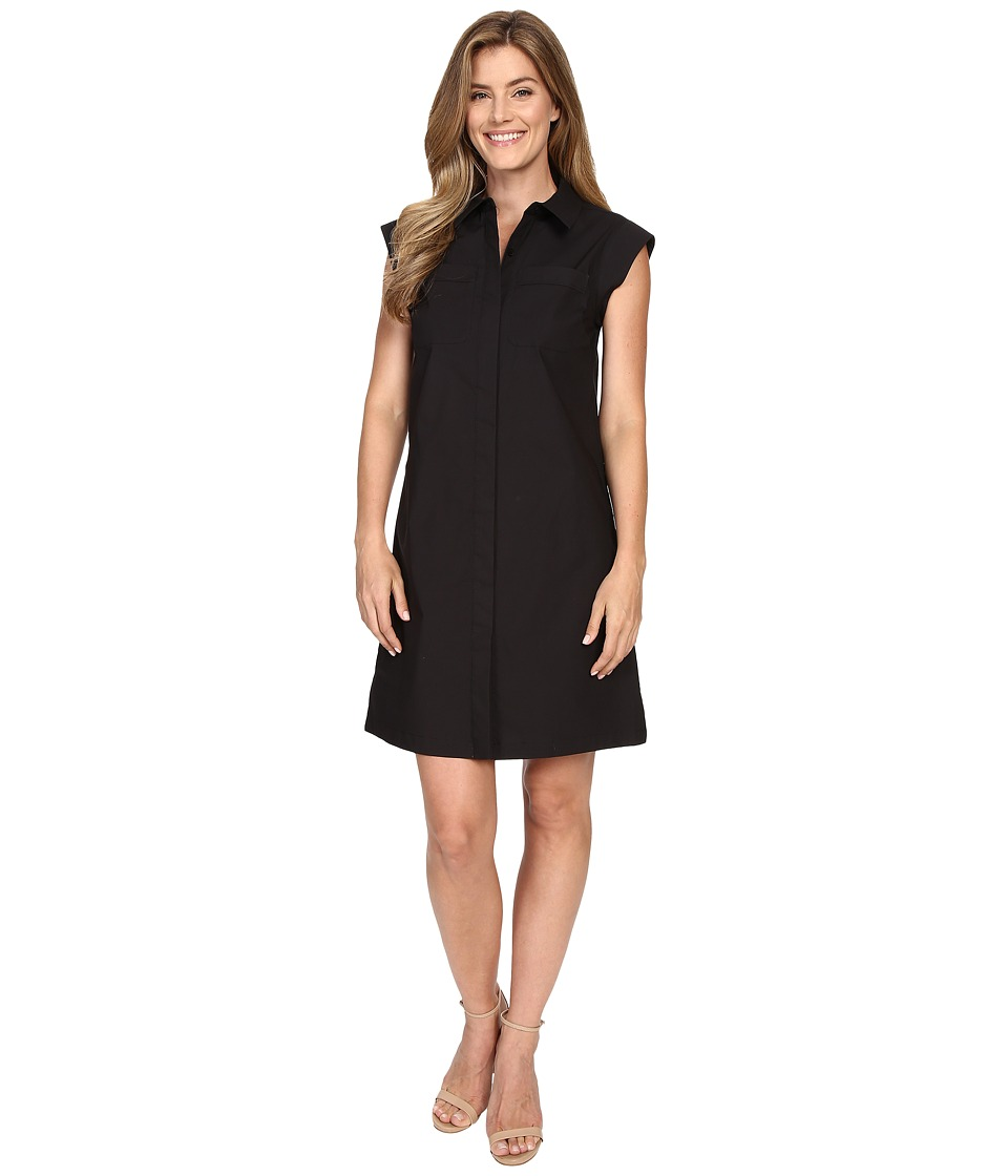 MICHAEL Michael Kors Short Sleeve Pocket Dress (Black) Women