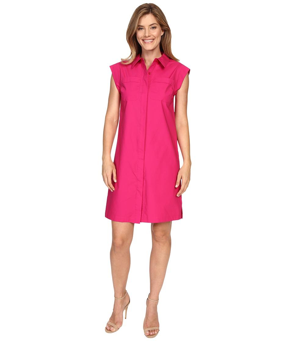 MICHAEL Michael Kors - Short Sleeve Pocket Dress (Geranium) Women's Dress