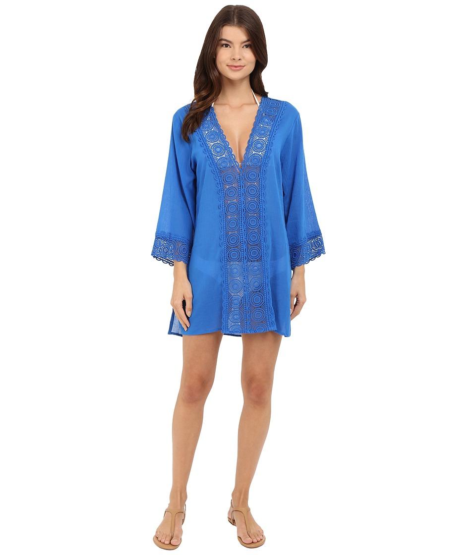 La Blanca - Island Fare V-Neck Tunic Cover-Up (Royal) Women's Blouse