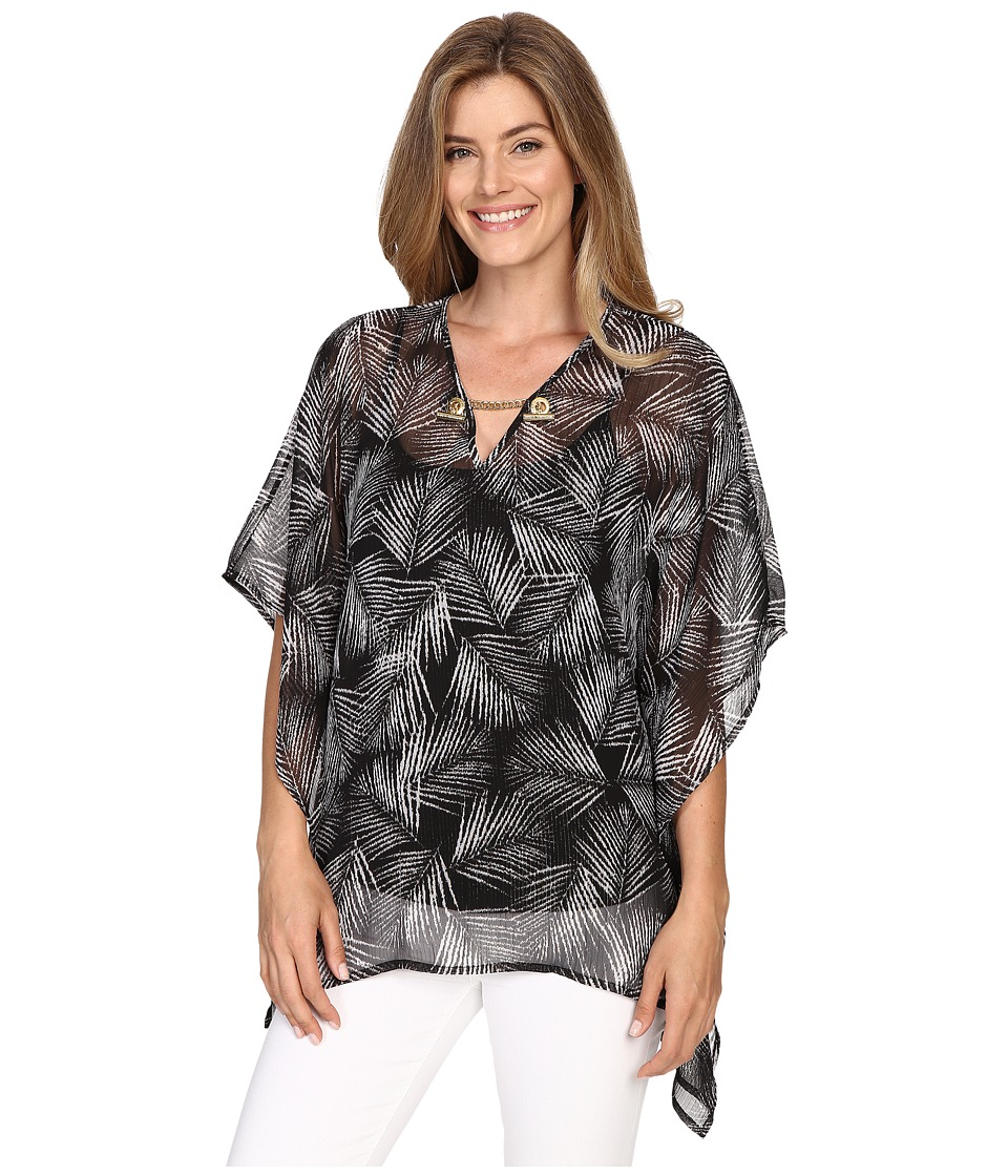 MICHAEL Michael Kors - Mangonia Chain Flutter Top (Black) Women's Clothing