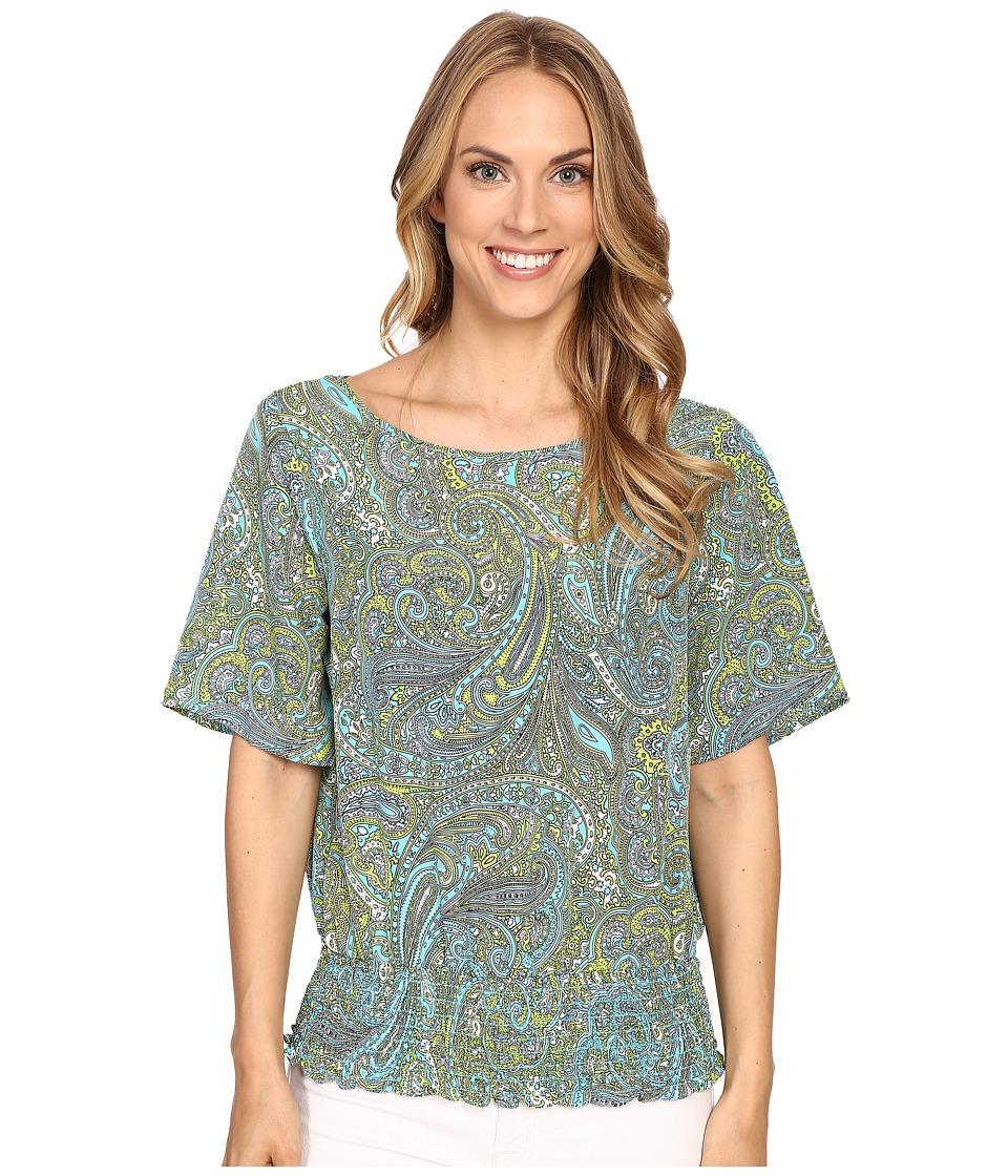 MICHAEL Michael Kors - Ashbury Paisley Kimono (Turquoise) Women's Blouse
