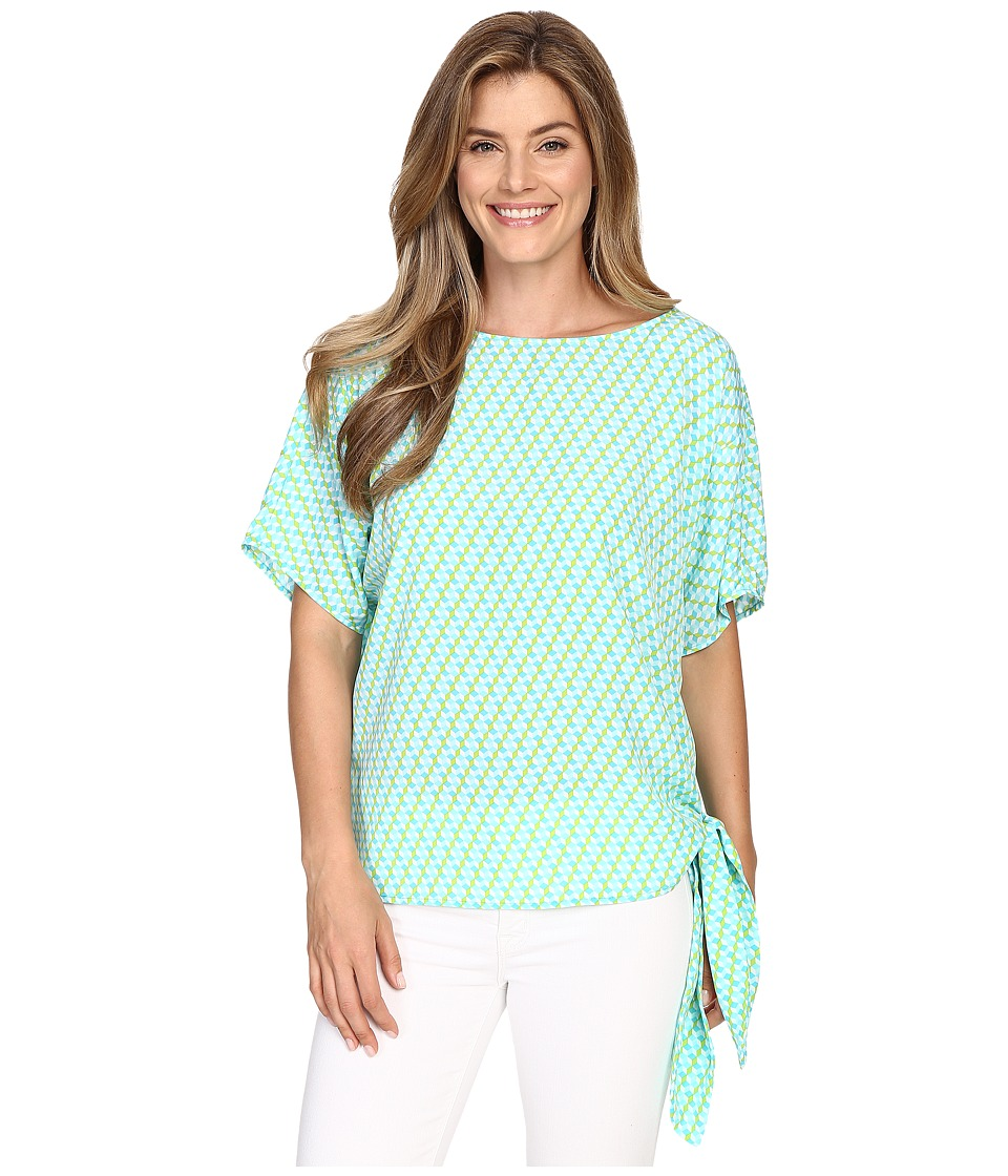 MICHAEL Michael Kors - Mini Retro Tie Top (Turquoise) Women's Clothing