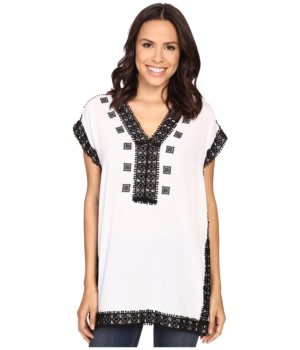 MICHAEL Michael Kors - Crochet Trim Tunic (Black) Women's Clothing