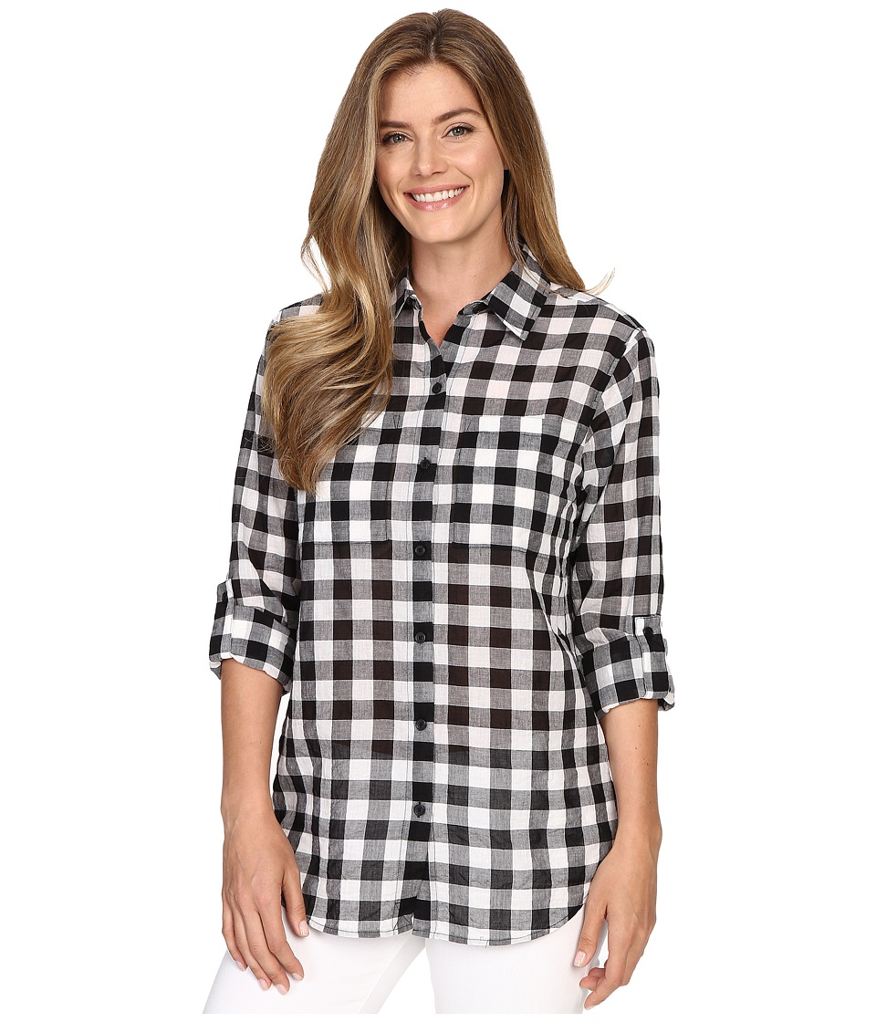 MICHAEL Michael Kors - Water Front Button Down Top (Black) Women's Clothing