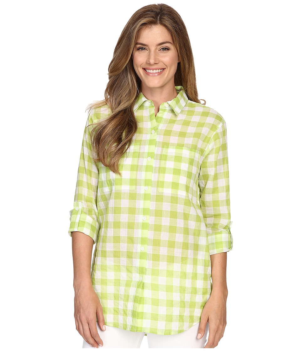 MICHAEL Michael Kors - Water Front Button Down Top (Fresh Lime) Women's Clothing