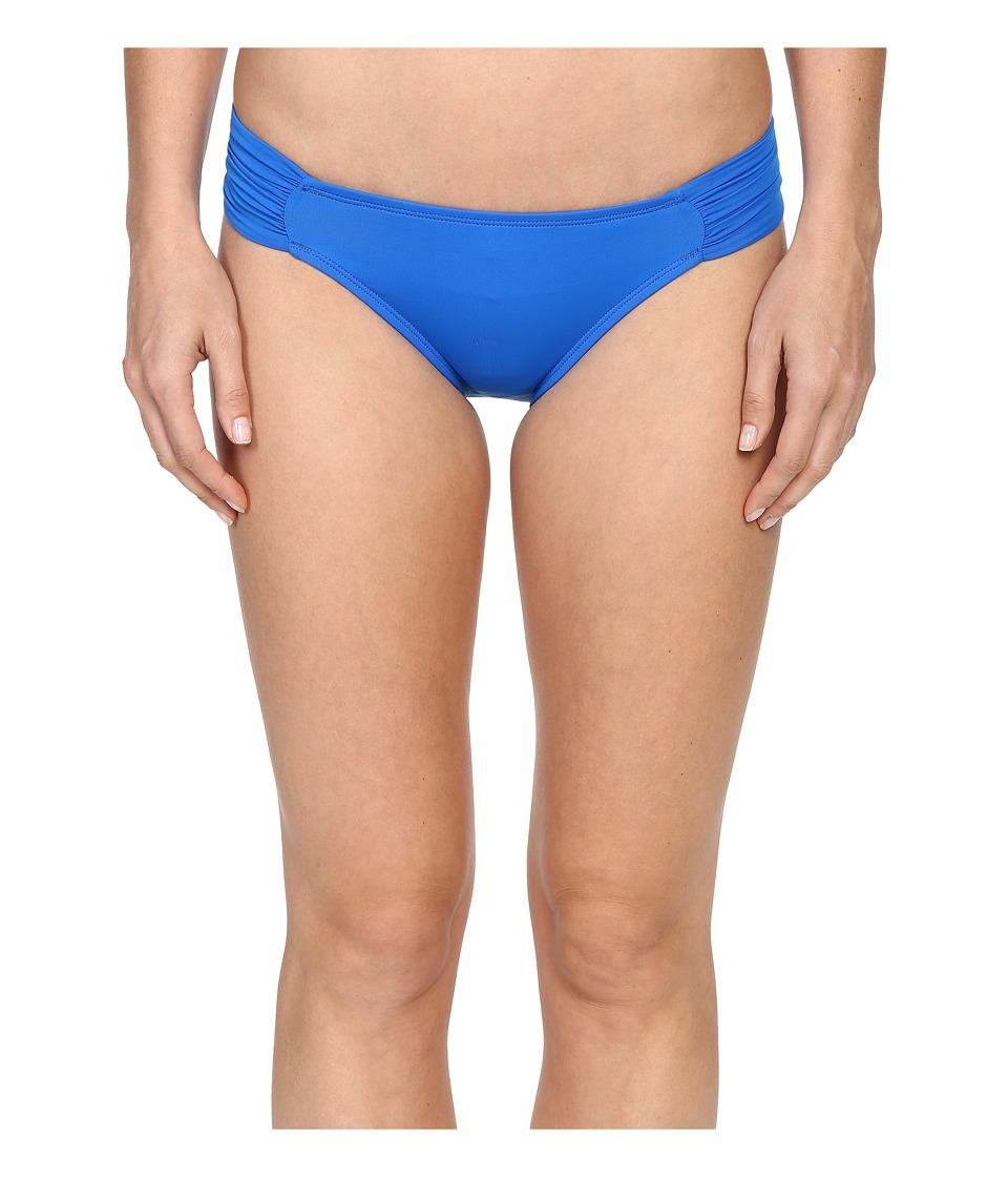 La Blanca - Island Goddess Side Shirred Hipster Bottom (Royal) Women's Swimwear