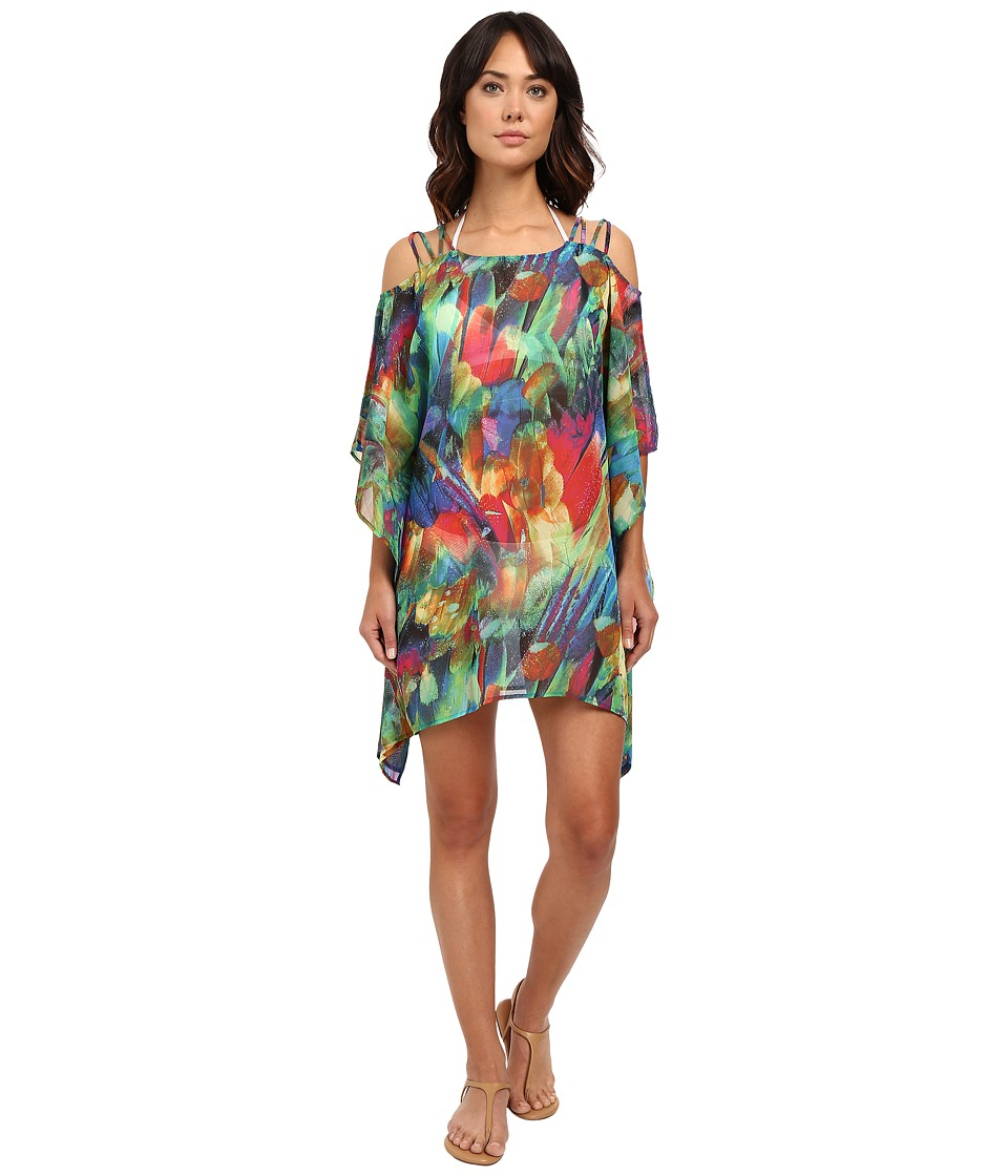 La Blanca - Feathering Colors Cold Shoulder Tunic (Rainbow) Women's Swimwear