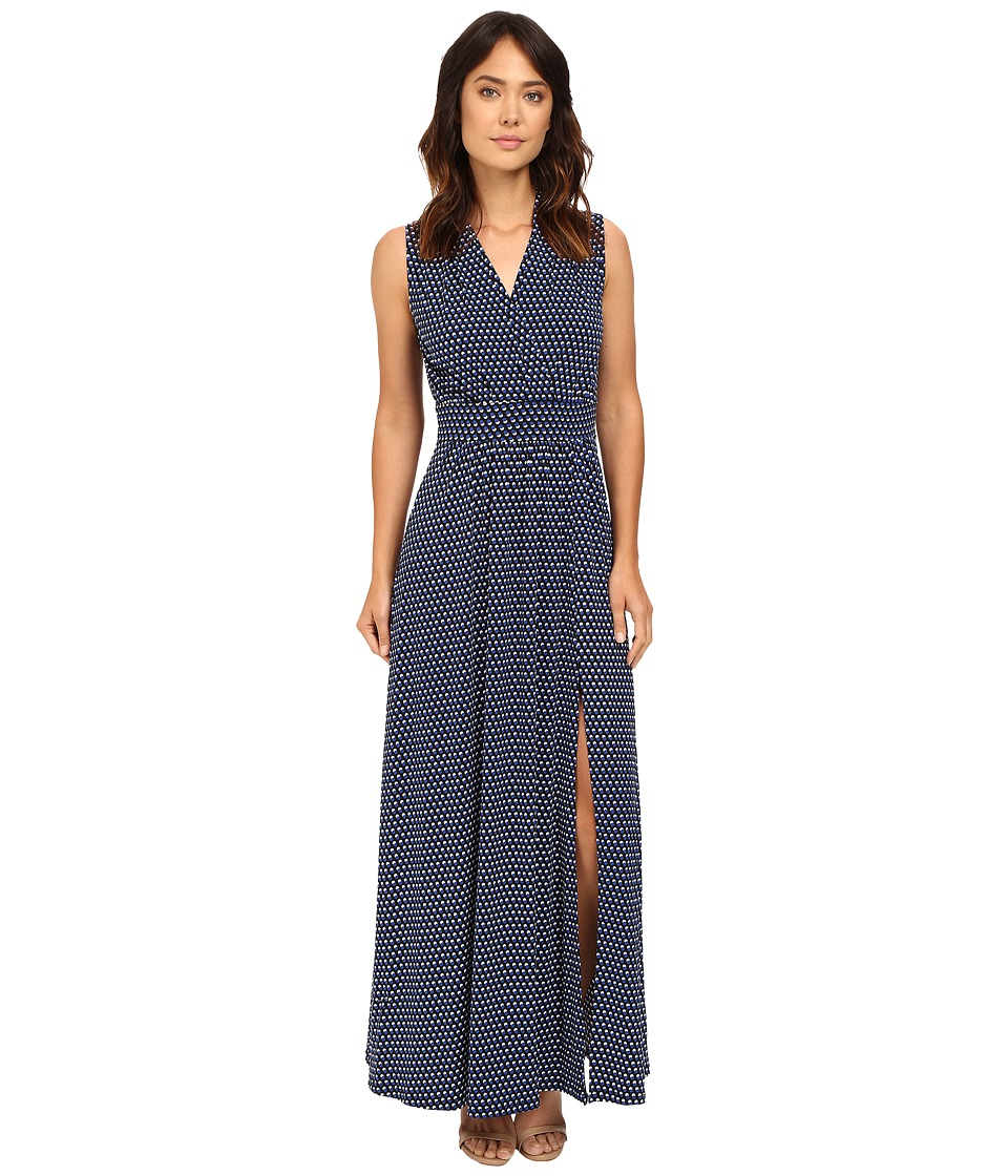 MICHAEL Michael Kors - Alston Slit Maxi Dress (Royal) Women's Dress