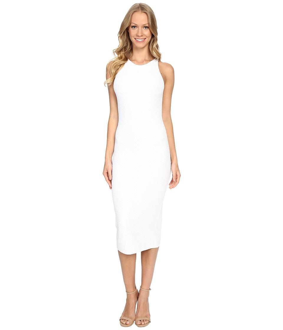 MICHAEL Michael Kors - Jacquard Sleeveless Sweater Dress (White) Women's Dress