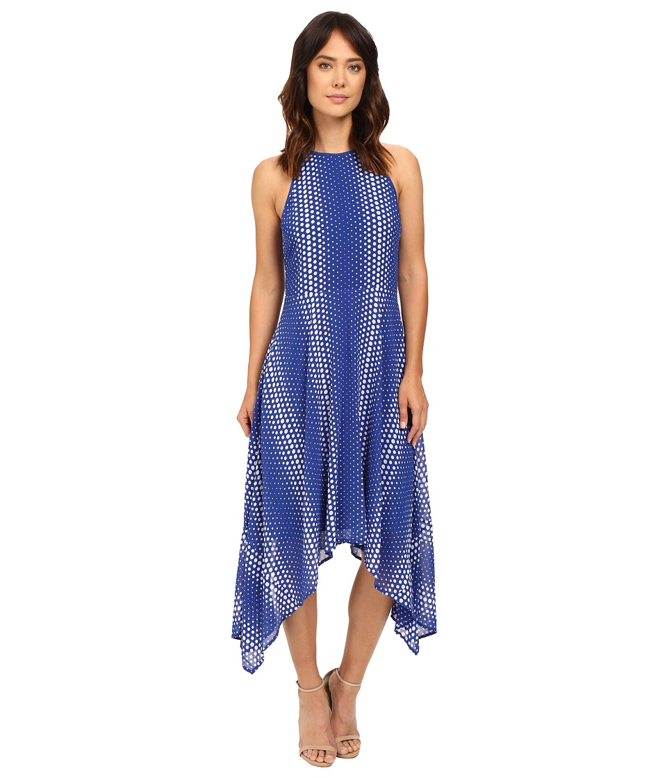 MICHAEL Michael Kors - Arailia Dot Hi Lo Dress (Royal) Women's Dress