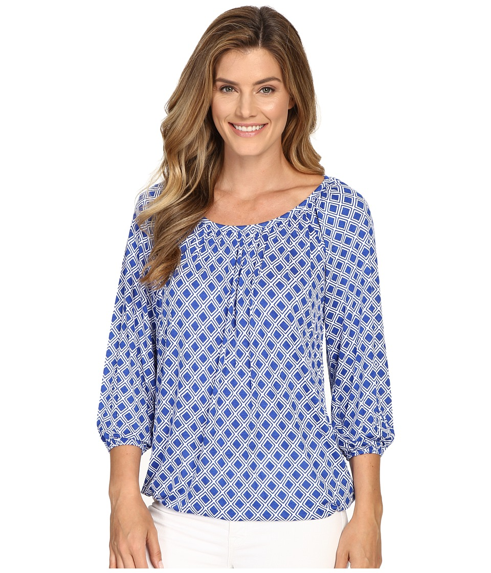 MICHAEL Michael Kors - Reilly Peasant Top (Royal) Women's Clothing