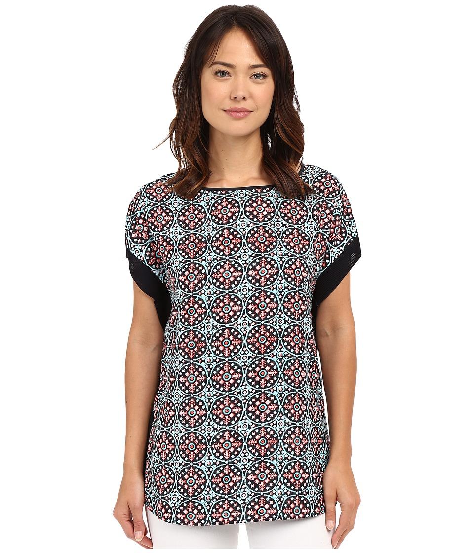 MICHAEL Michael Kors - Nui S Neck Rib Trim (Coral Reef) Women's Clothing