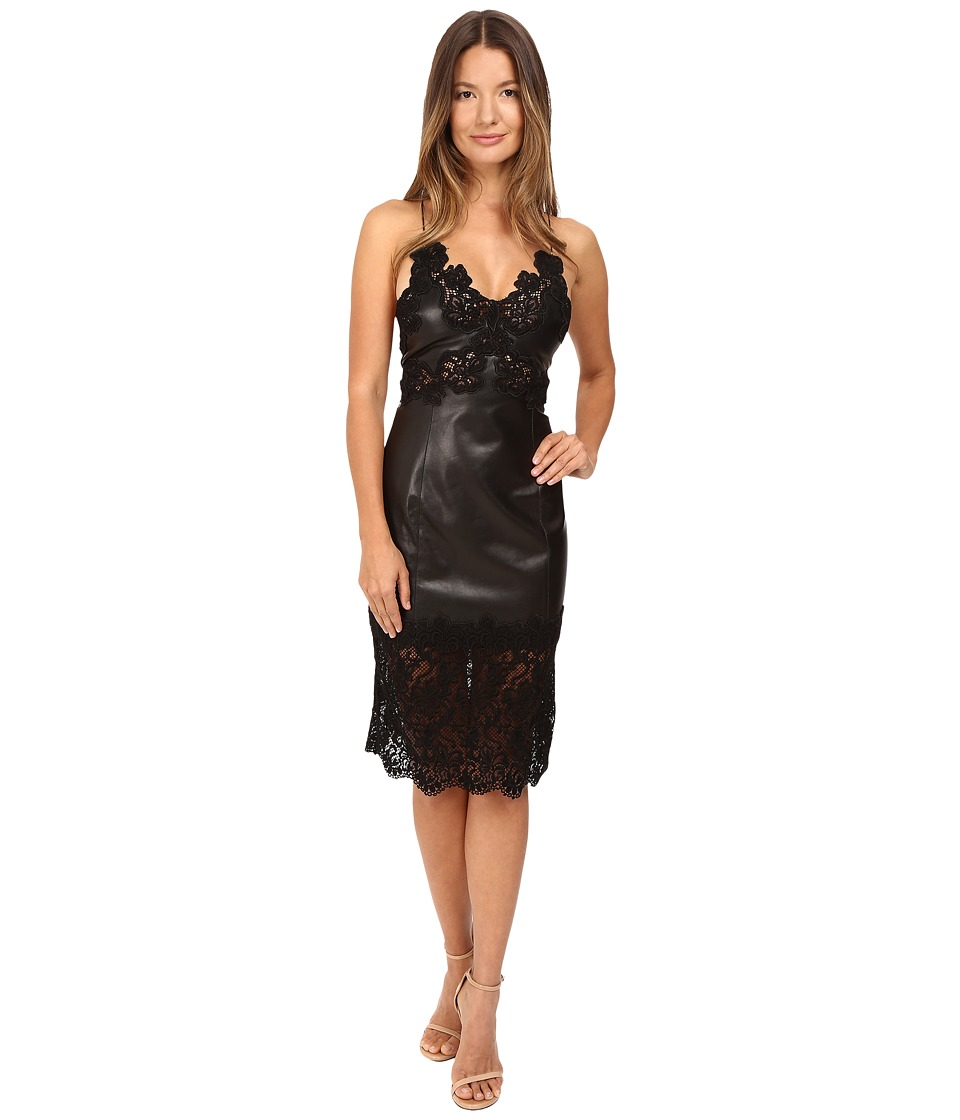 Philipp Plein Lace Trim Sleeveless Dress (Black) Women