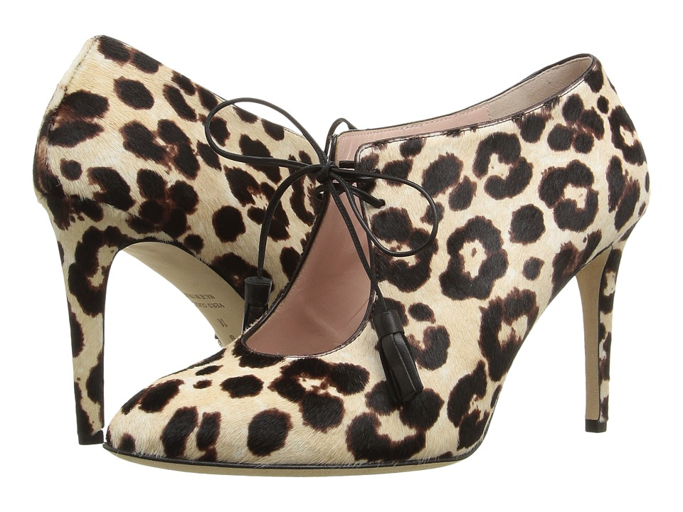 Kate Spade New York Davie Blush-Brown Leopard Haircalf Print High Heels