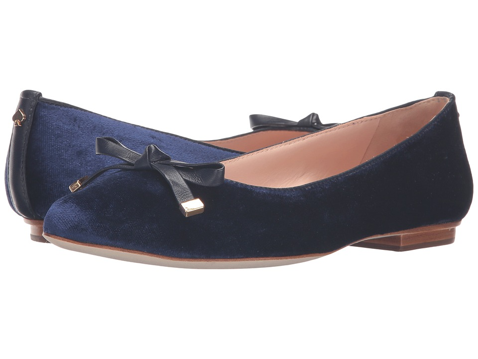 Kate Spade New York - Emma Too (Blue Velvet/Blue Satin) Women's Shoes
