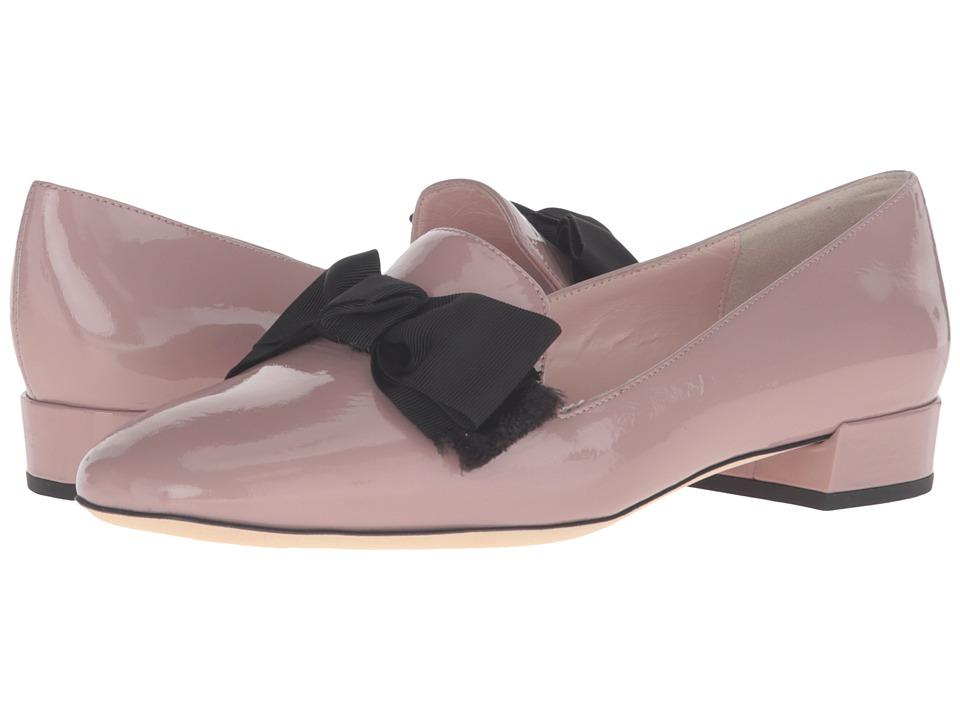Kate Spade New York - Gino (Rose Quartz Crinkle Patent/Black) Women's Slip on Shoes