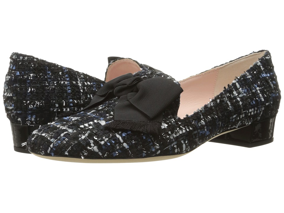 Kate Spade New York - Gino (Blue Multi Tweed/Black) Women's Slip on Shoes