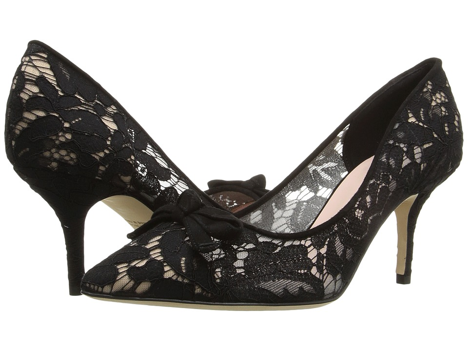 Kate Spade New York - Jace (Black Lace/Suede) Women's Shoes