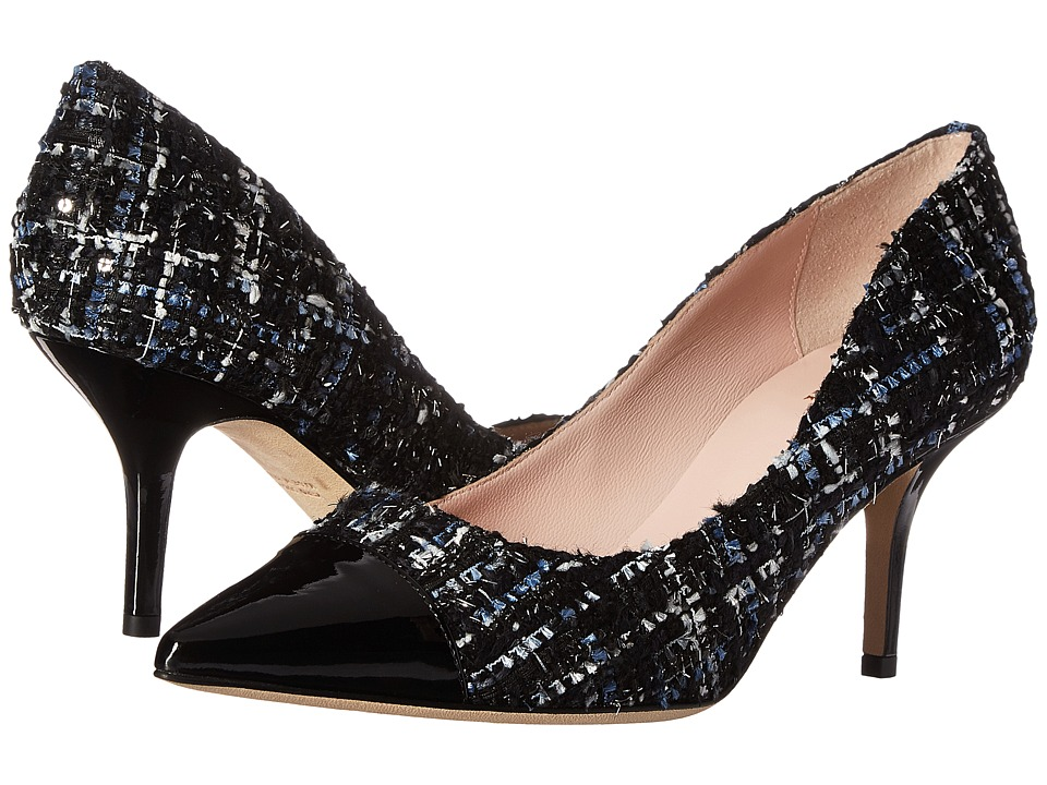 Kate Spade New York - Jessie (Blue Multi Tweed/Black Patent) Women's Shoes