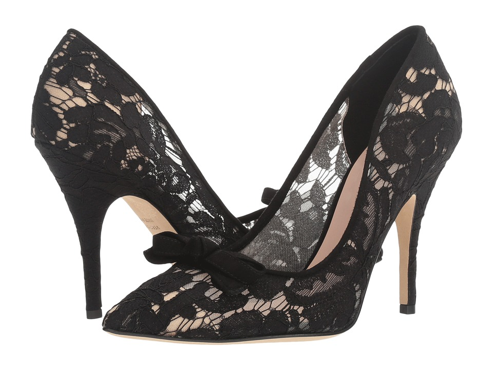Kate Spade New York - Lisa Too (Black Lace/Kid Suede) Women's Shoes