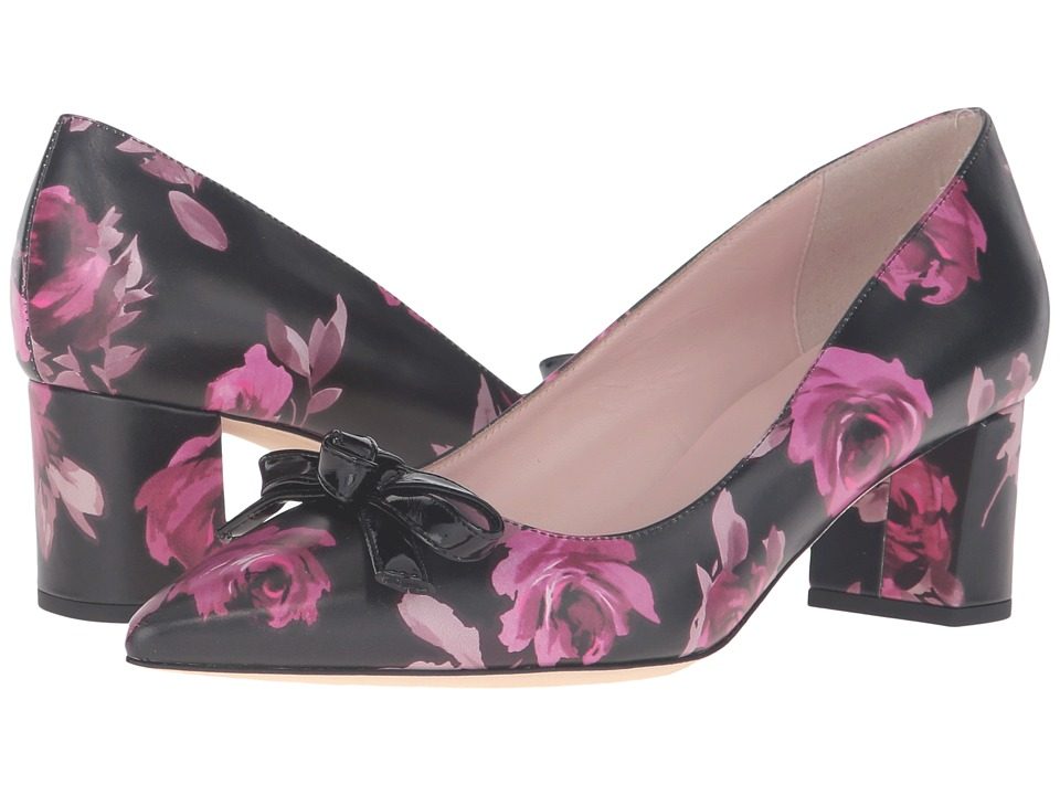 Kate Spade New York - Madelaine (Black Rose Symphony Printed Nappa) Women's Shoes