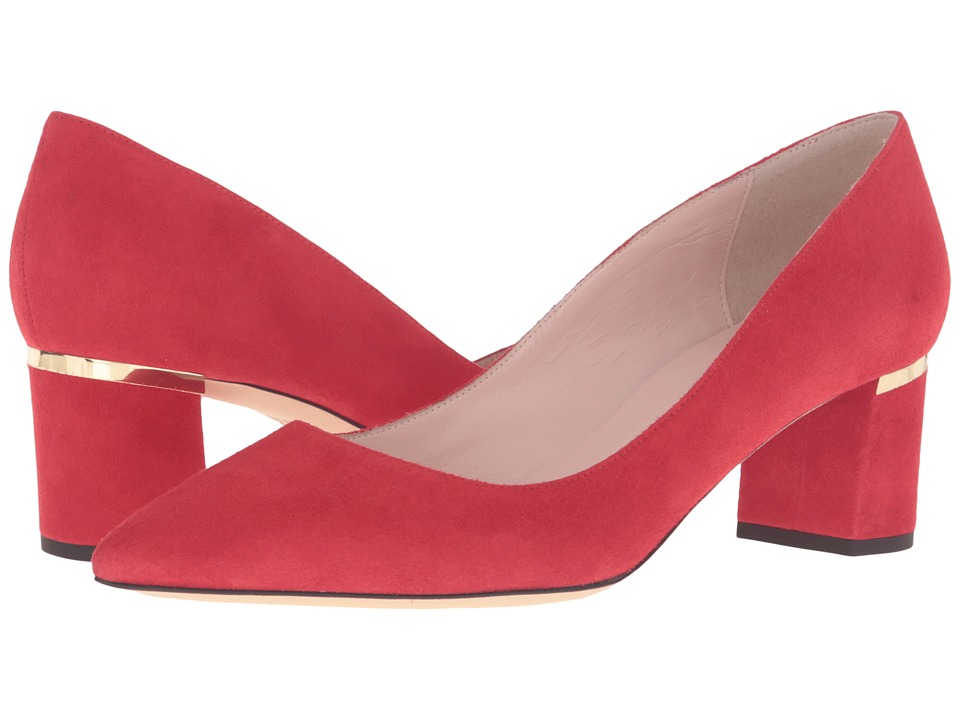 Kate Spade New York - Milan Too (Poppy Red Kid Suede) Women's Shoes