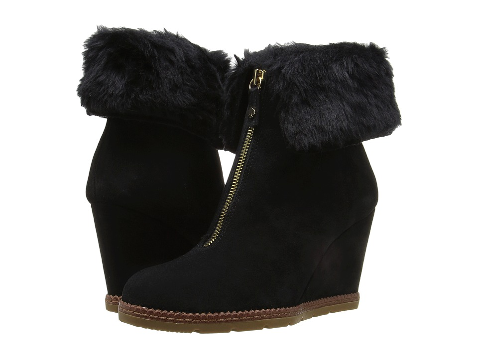 Kate Spade New York - Stasia (Black Sport Suede/Faux Fur) Women's Shoes