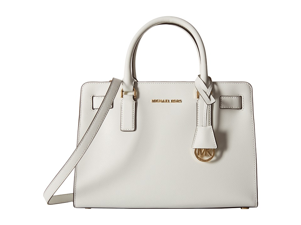 MICHAEL Michael Kors - Dillon Top Zip East/West Satchel (Optic White) Satchel Handbags
